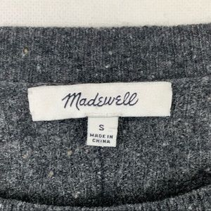 Madewell Sweaters - Madewell Cropped Sweater 3/4 Sleeve Gray Small